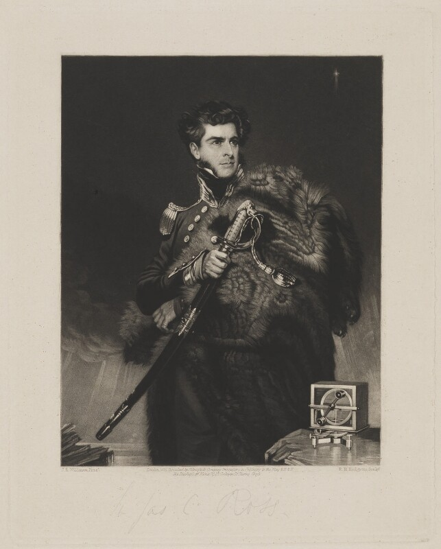 Sir James Clark Ross, by Robert Moore Hodgetts, published by  Colnaghi & Co, after  John Robert Wildman, published 1835 - NPG D4105 - © National Portrait Gallery, London