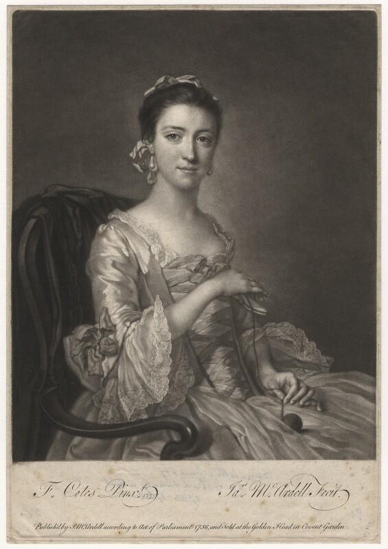 Elizabeth Sandby (née Venables), by James Macardell, after  Francis Cotes, (1755) - NPG D4141 - © National Portrait Gallery, London