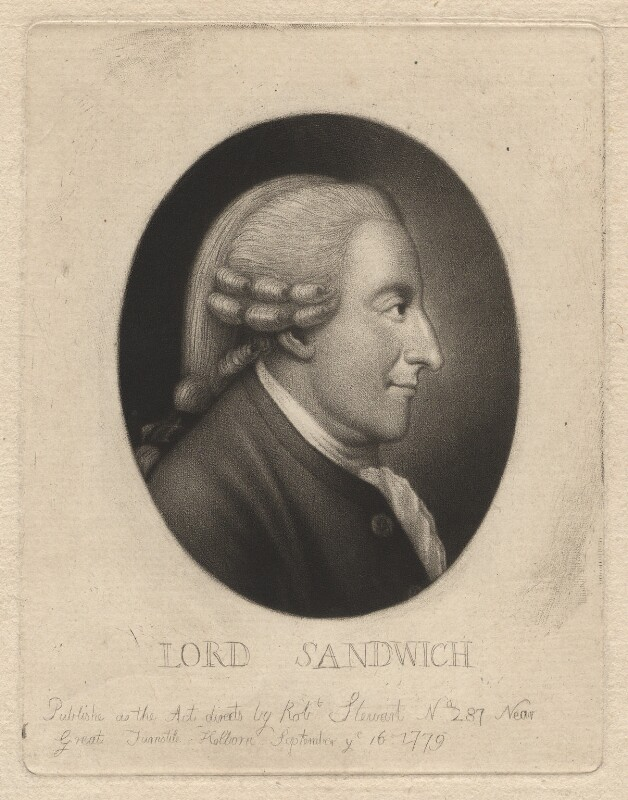 John Montagu, 4th Earl of Sandwich, by and published by Robert Stewart, published 16 September 1779 - NPG D4170 - © National Portrait Gallery, London