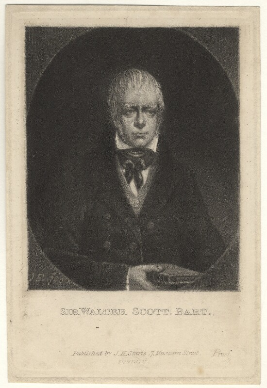 Sir Walter Scott, 1st Bt, by J.E., after  Unknown artist, early 19th century - NPG D4182 - © National Portrait Gallery, London