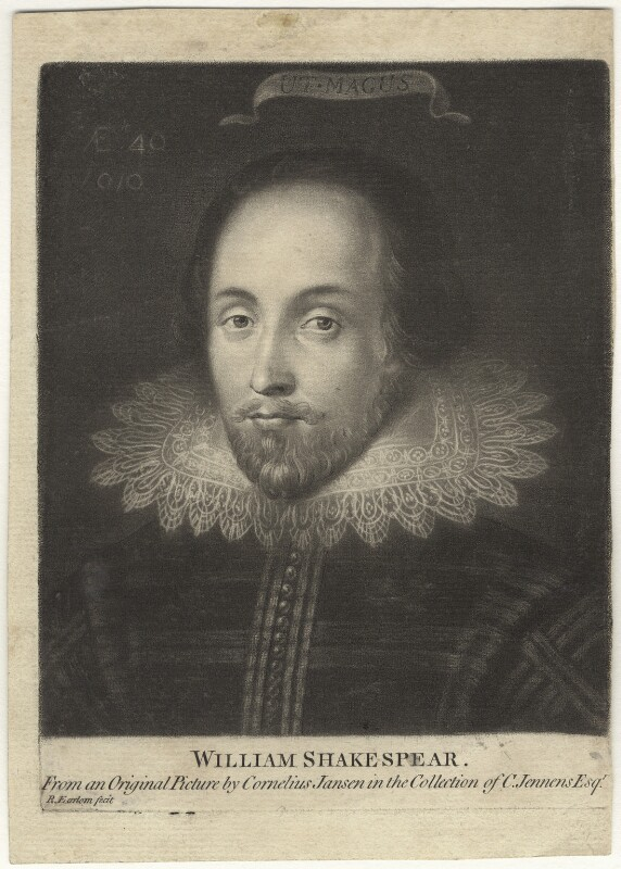 Unknown gentleman, possibly Sir Thomas Overbury, previously known as William Shakespeare, by Richard Earlom, after  Unknown Anglo-Netherlandish artist, (circa 1610) - NPG D4207 - © National Portrait Gallery, London
