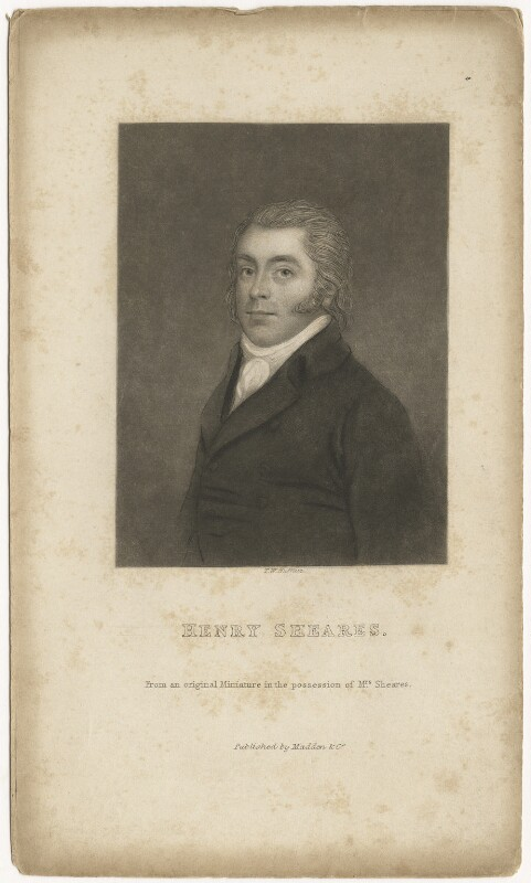 Henry Sheares, by T.W. Huffam, after  Unknown artist, mid 19th century - NPG D4213 - © National Portrait Gallery, London