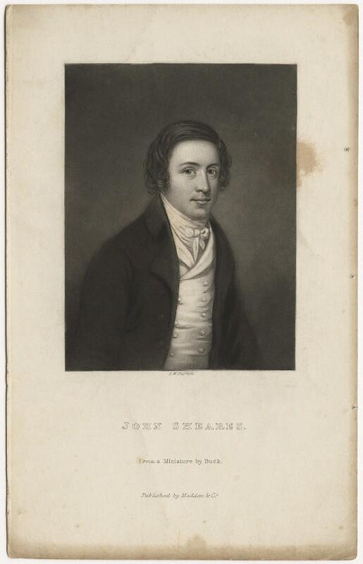 John Sheares, by T.W. Huffam, after  Adam Buck, mid 19th century - NPG D4214 - © National Portrait Gallery, London