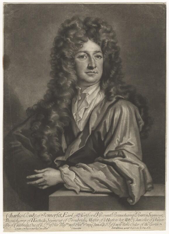 Charles Seymour, 6th Duke of Somerset, by John Simon, after  Sir Godfrey Kneller, Bt, (circa 1703) - NPG D4262 - © National Portrait Gallery, London