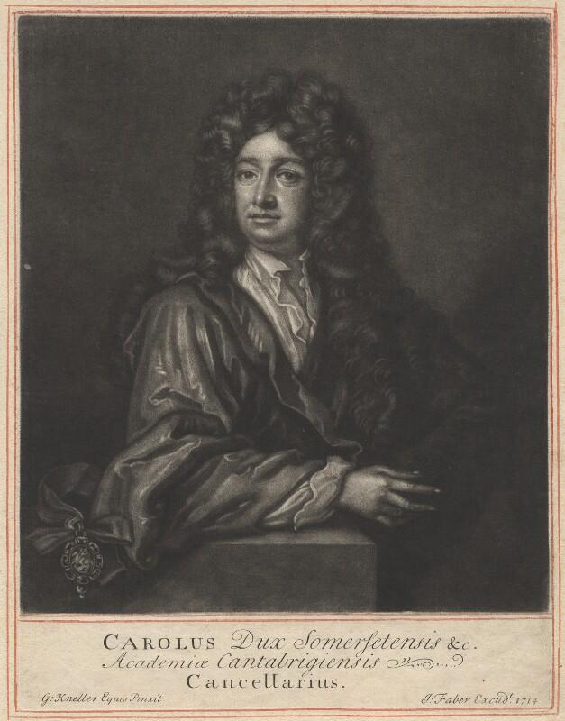 Charles Seymour, 6th Duke of Somerset, by John Faber Sr, after  Sir Godfrey Kneller, Bt, 1714 (circa 1703) - NPG D4263 - © National Portrait Gallery, London
