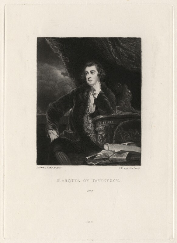 Francis Russell, Marquess of Tavistock, by Samuel William Reynolds, after  Sir Joshua Reynolds, published 1820 - NPG D4351 - © National Portrait Gallery, London
