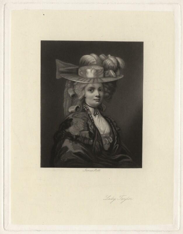 Elizabeth Godden (née Houghton), Lady Taylor, by James Scott, after  John Hoppner, 1850s-1880s - NPG D4353 - © National Portrait Gallery, London