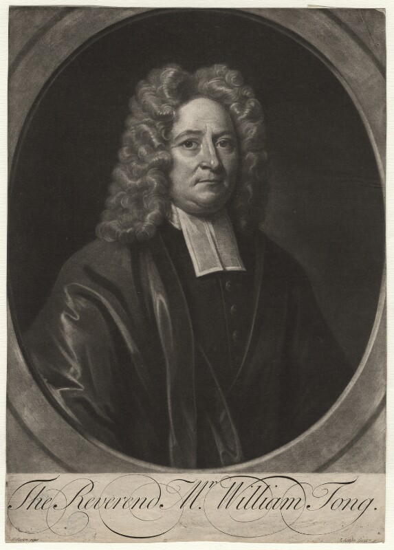 William Tong, by John Simon, after  John Wollaston, circa 1710-1730 - NPG D4370 - © National Portrait Gallery, London
