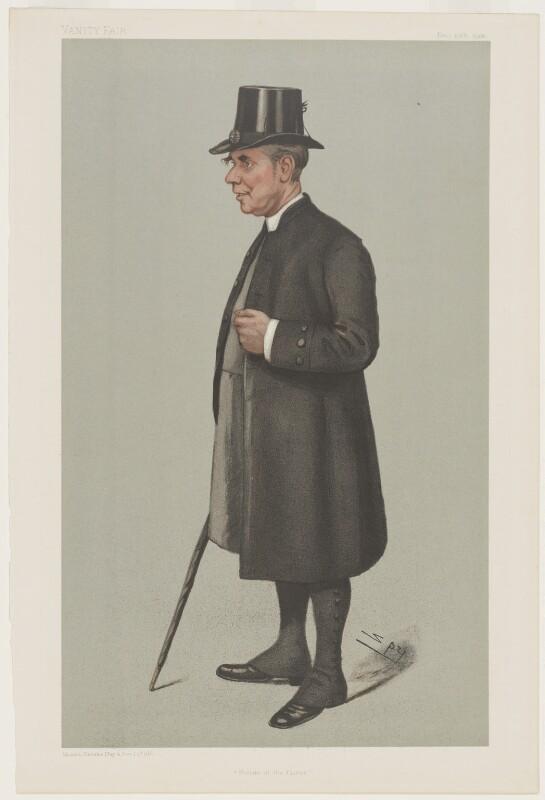 Randall Thomas Davidson, Baron Davidson of Lambeth ('Prelate of the Garter'), by Sir Leslie Ward, published 1901 - NPG D4406 - © National Portrait Gallery, London