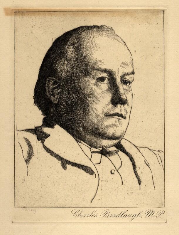 Charles Bradlaugh, after William Strang, circa 1890 - NPG D4414 - © National Portrait Gallery, London