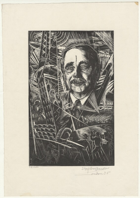 H.G. Wells, by Stefan Mrozewski, 1935 - NPG D4434 - © National Portrait Gallery, London