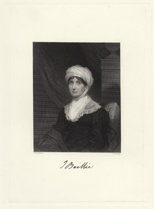 Joanna Baillie, by John Henry Robinson, after  Sir William John Newton, published 1851 - NPG D4453 - © National Portrait Gallery, London