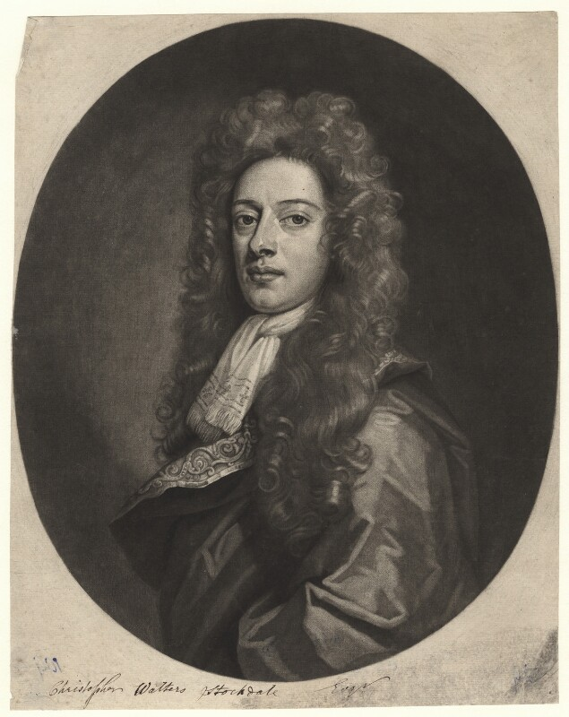 Christopher Walters Stockdale, by John Smith, after  Sir Godfrey Kneller, Bt, 1693 - NPG D4476 - © National Portrait Gallery, London
