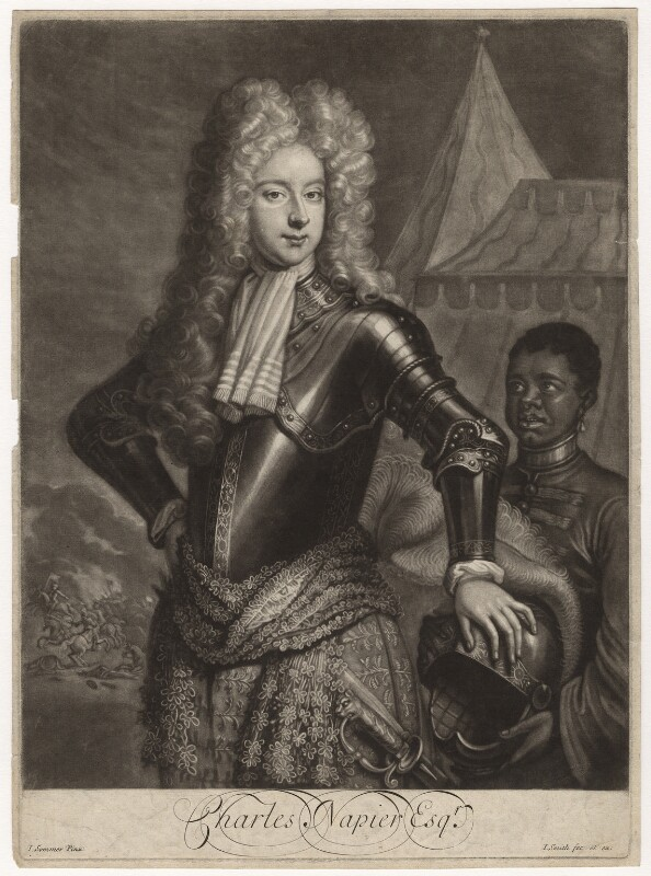 Sir Charles Napier, 2nd Bt, by and published by John Smith, after  J. Sommer, 1700 - NPG D4483 - © National Portrait Gallery, London