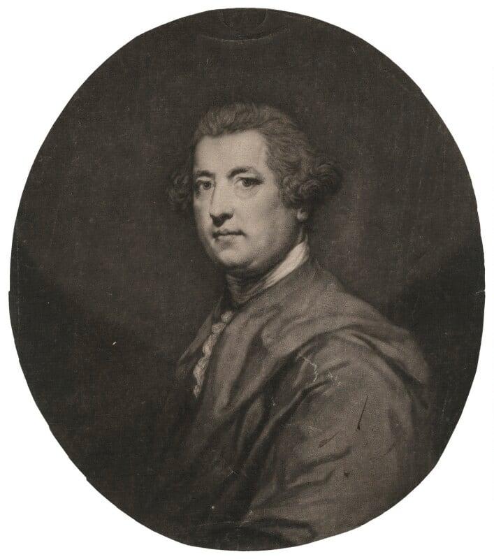 Charles Townshend, by John Dixon, after  Sir Joshua Reynolds, published 21 December 1770 (1765-1767) - NPG D4489 - © National Portrait Gallery, London