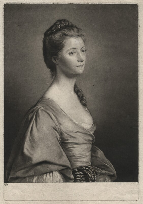 Catherine Trapaud (née Plaistow), by Edward Fisher, after  Sir Joshua Reynolds, 1762 - NPG D4496 - © National Portrait Gallery, London