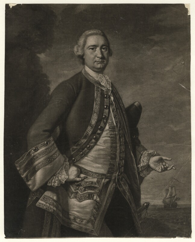 Richard Tyrrell, by James Macardell, after  Thomas Hudson, circa 1750-1765 - NPG D4539 - © National Portrait Gallery, London