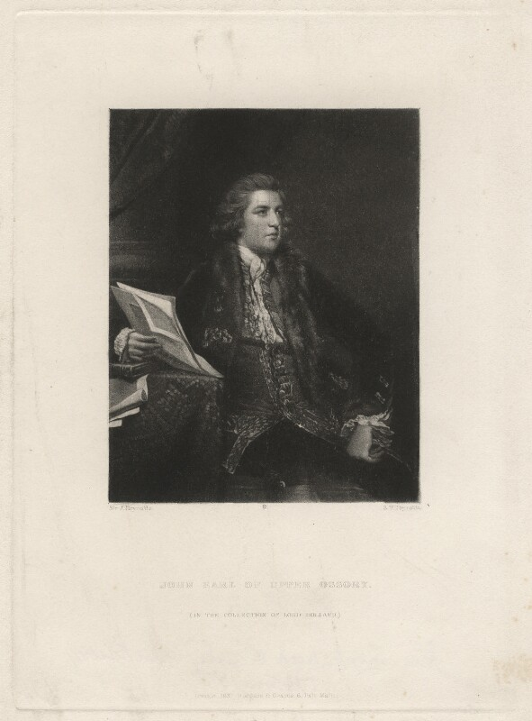 John Fitzpatrick, 2nd Earl of Upper Ossory, by Samuel William Reynolds, after  Sir Joshua Reynolds, published 1837 - NPG D4540 - © National Portrait Gallery, London