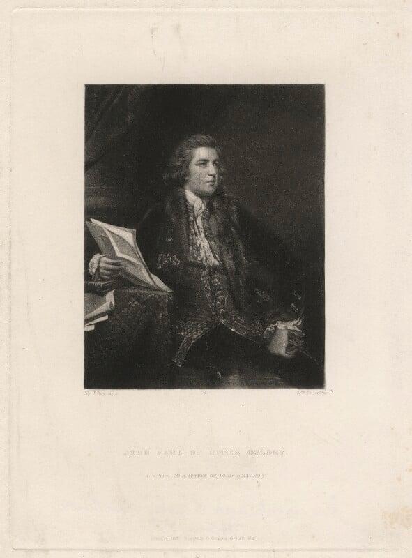 John Fitzpatrick, 2nd Earl of Upper Ossory, by Samuel William Reynolds, after  Sir Joshua Reynolds, published 1837 - NPG D4540 - © National Portrait Gallery, London