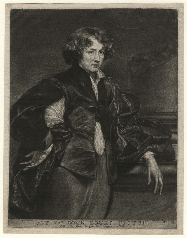 Sir Anthony van Dyck, by and published by Jan van der Bruggen, after  Sir Anthony van Dyck, 1682 - NPG D4552 - © National Portrait Gallery, London