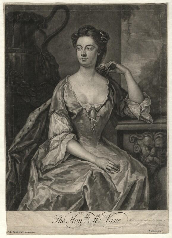 Anne Vane, by John Faber Jr, after  John Vanderbank, (1729) - NPG D4562 - © National Portrait Gallery, London