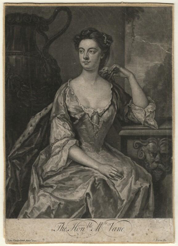 Anne Vane, by John Faber Jr, after  John Vanderbank, (1729) - NPG D4563 - © National Portrait Gallery, London
