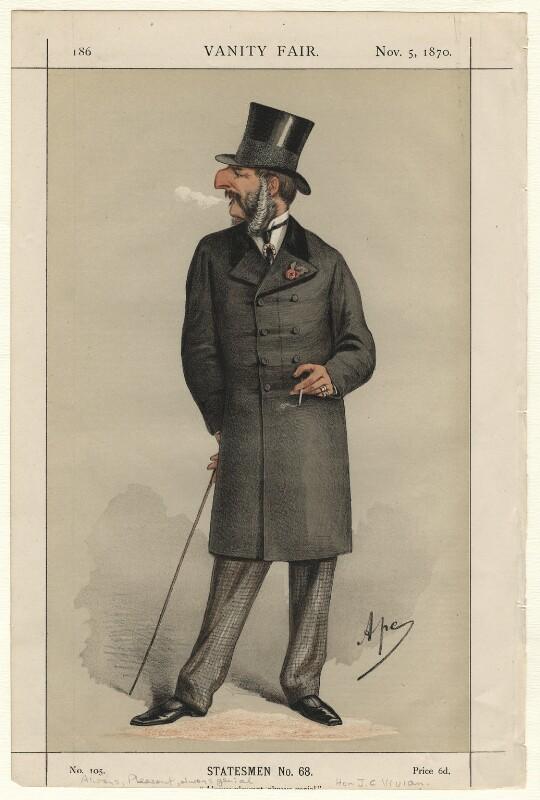 John Cranch Walker Vivian, by Carlo Pellegrini, published 1870 - NPG D4567 - © National Portrait Gallery, London