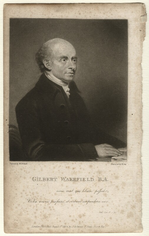 Gilbert Wakefield, by William Say, published by  Joseph Johnson, after  William Artaud, published 1 August 1804 - NPG D4584 - © National Portrait Gallery, London