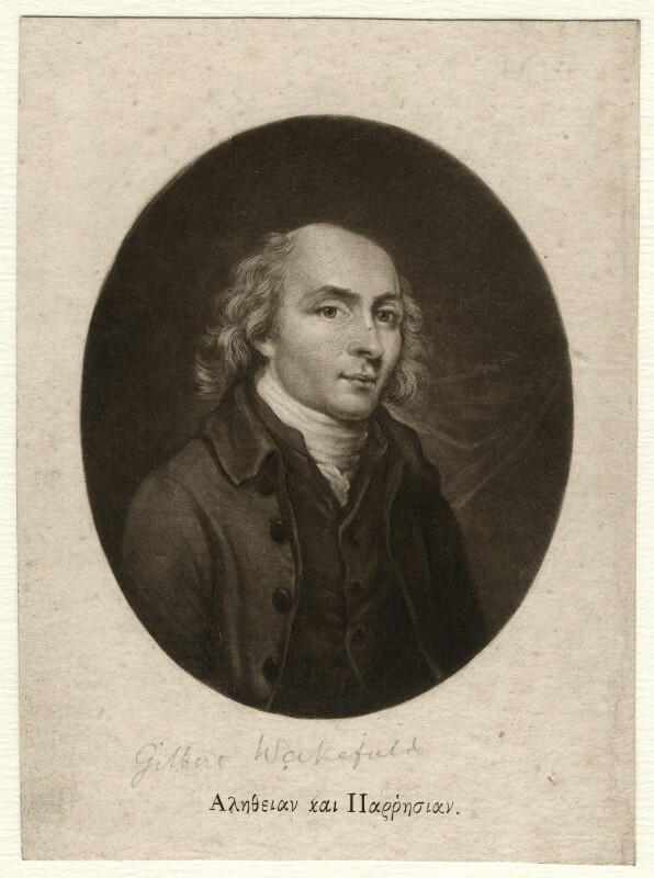 Gilbert Wakefield, by Robert Laurie, after  Unknown artist, published 1792 - NPG D4588 - © National Portrait Gallery, London