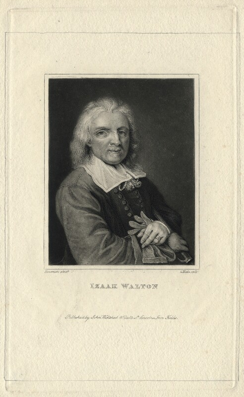 Izaak Walton, by George Maile, after  Jacob Huysmans, early 19th century - NPG D4612 - © National Portrait Gallery, London