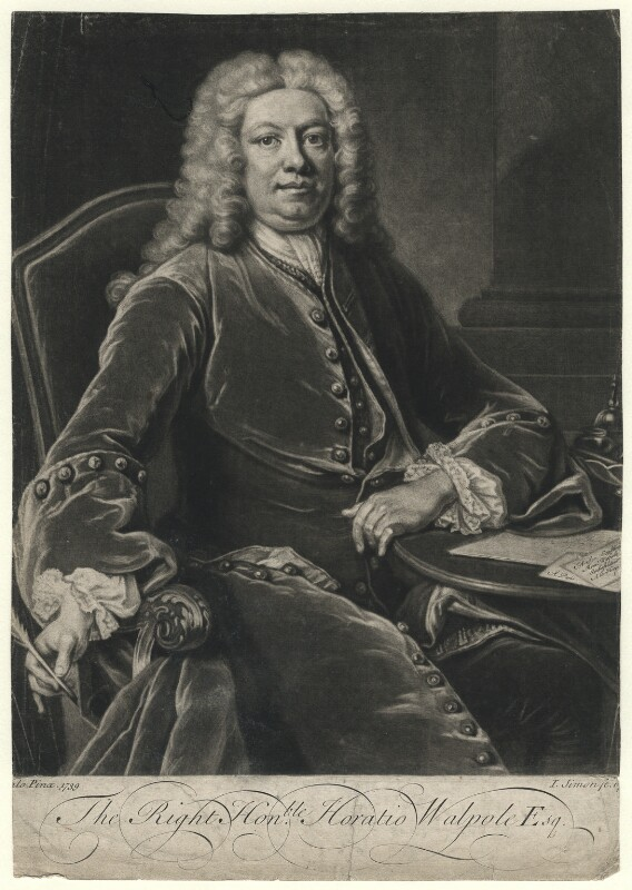 Horatio Walpole, 1st Baron Walpole of Wolterton, by John Simon, after  Jean Baptiste van Loo, 1741 (1739) - NPG D4619 - © National Portrait Gallery, London