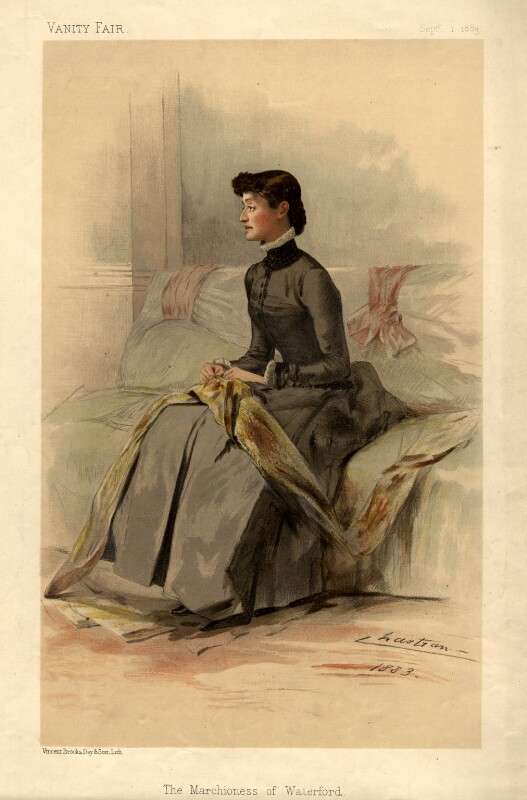 Blanche Elizabeth Adelaide Beresford (née Somerset), Marchioness of Waterford, by Théobald Chartran ('T'), printed by  Vincent Brooks, Day & Son, published 1883 - NPG D4643 - © National Portrait Gallery, London
