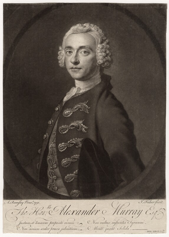 Alexander Murray, by John Faber Jr, after  Allan Ramsay, (1751) - NPG D4651 - © National Portrait Gallery, London