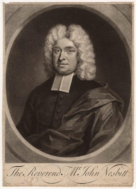 John Nesbitt, by George White, after  John Wollaston, early 18th century - NPG D4664 - © National Portrait Gallery, London