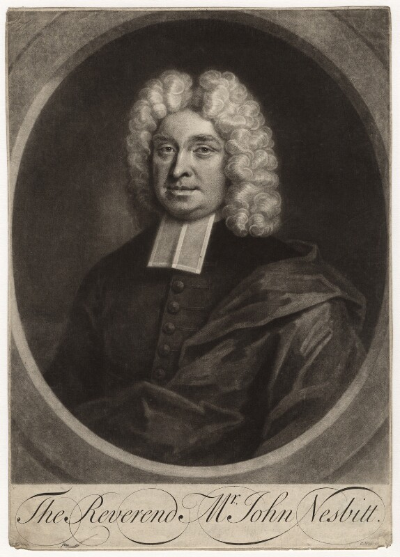 John Nesbitt, by George White, after  John Wollaston, early 18th century - NPG D4665 - © National Portrait Gallery, London