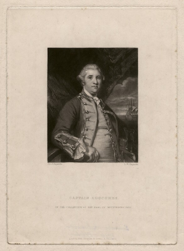 George Edgcumbe, 1st Earl of Mount Edgcumbe, by Samuel William Reynolds, published by  Hodgson & Graves, after  Sir Joshua Reynolds, published 1838 (1758-1759) - NPG D4671 - © National Portrait Gallery, London