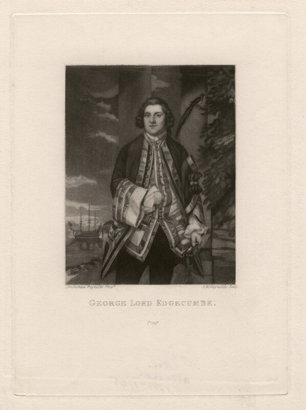 George Edgcumbe, 1st Earl of Mount Edgcumbe, by Samuel William Reynolds, after  Sir Joshua Reynolds, published 1820 (1748) - NPG D4673 - © National Portrait Gallery, London
