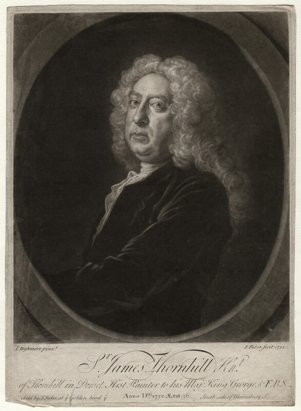 Sir James Thornhill, by John Faber Jr, after  Joseph Highmore, 1732 - NPG D4688 - © National Portrait Gallery, London