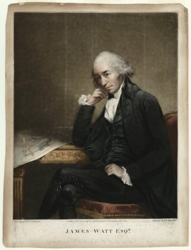 James Watt, by Samuel William Reynolds, after  Carl Fredrik von Breda, published 1796 - NPG D4696 - © National Portrait Gallery, London