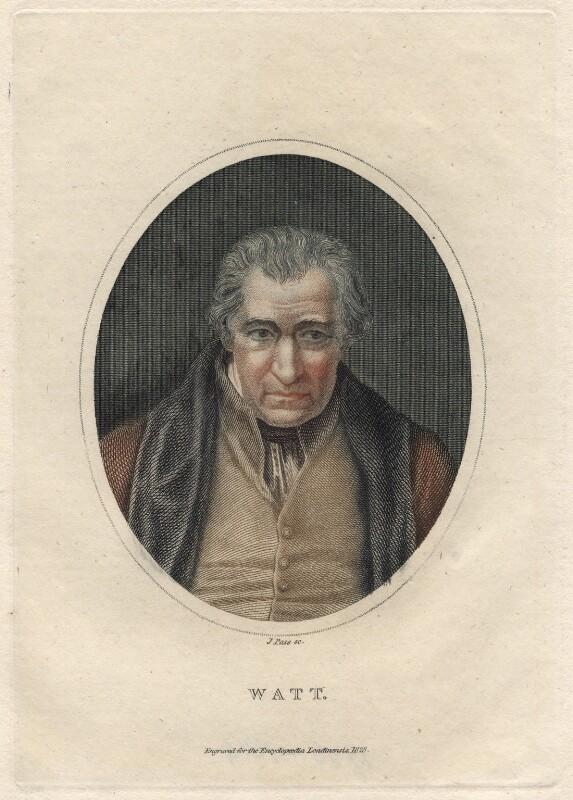 James Watt, by J. Pass, after  Auguste Hervieu, 1828 - NPG D4697 - © National Portrait Gallery, London