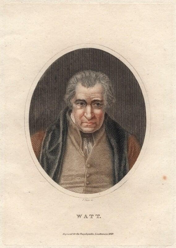 James Watt, by J. Pass, after  Auguste Hervieu, 1828 - NPG D4698 - © National Portrait Gallery, London