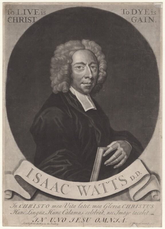 Isaac Watts, by George White, sold by  Edward Dilly, and sold by  Charles Dilly, 1727 - NPG D4699 - © National Portrait Gallery, London
