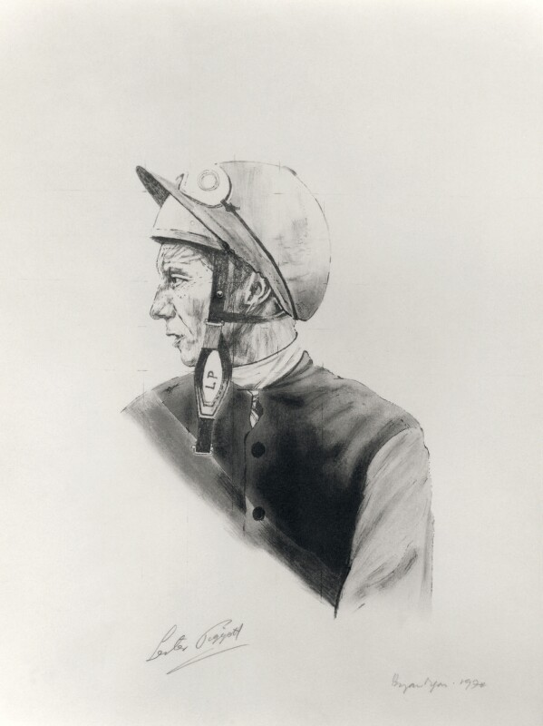 Lester Piggott, by Bryan Organ, 1974 - NPG D4712 - © National Portrait Gallery, London