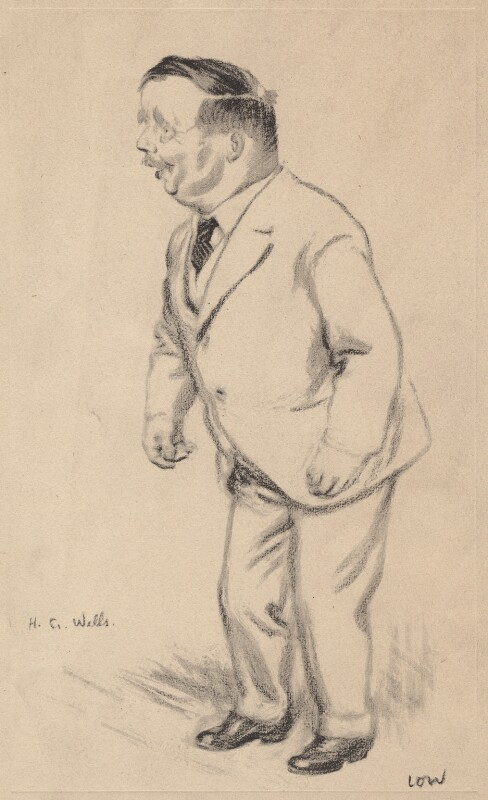H.G. Wells, after Sir David Low, circa 1920-1928 - NPG D4735 - © Solo Syndication Ltd