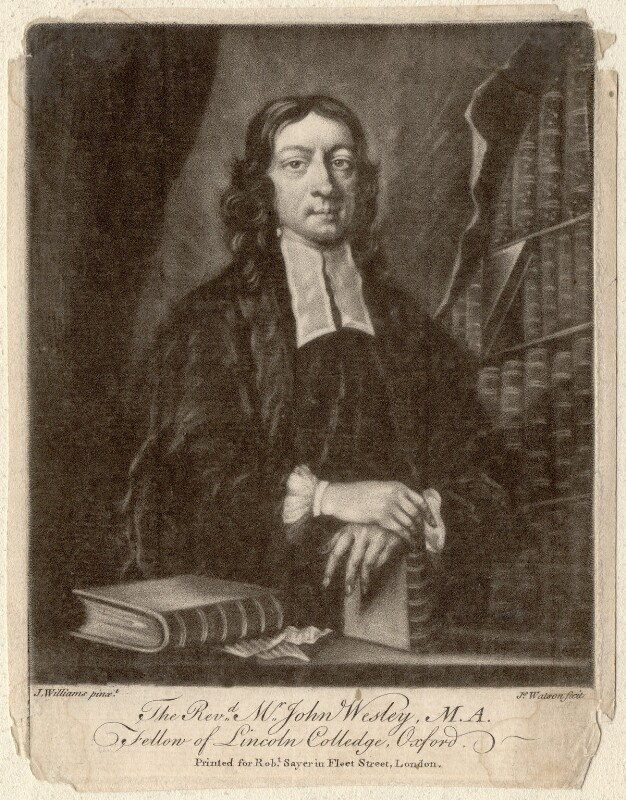 John Wesley, by James Watson, printed for  Robert Sayer, after  J. Williams, published circa 1745-1794 - NPG D4741 - © National Portrait Gallery, London