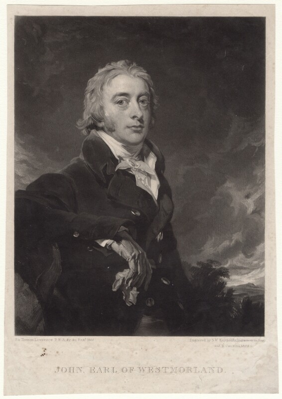 John Fane, 10th Earl of Westmorland, by Samuel William Reynolds, and by  Samuel Cousins, after  Sir Thomas Lawrence, 1825 - NPG D4754 - © National Portrait Gallery, London