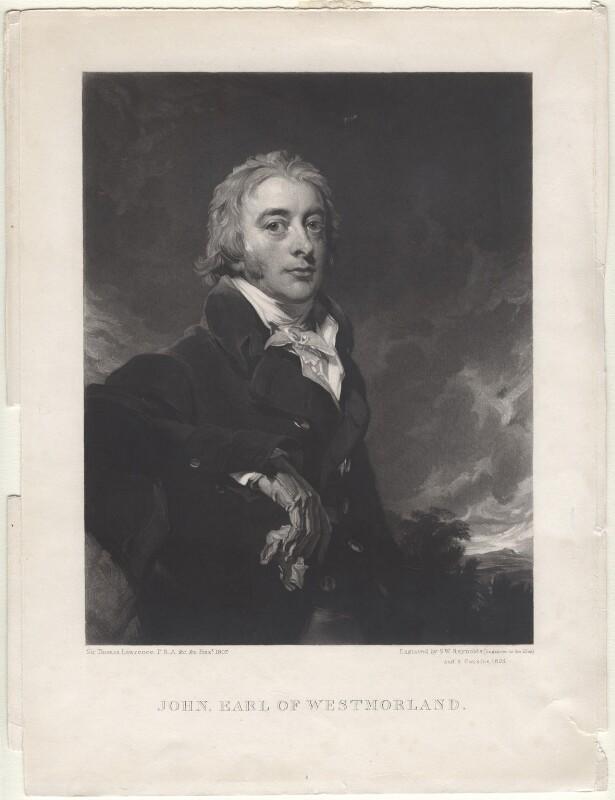 John Fane, 10th Earl of Westmorland, by Samuel William Reynolds, and by  Samuel Cousins, after  Sir Thomas Lawrence, 1825 - NPG D4755 - © National Portrait Gallery, London