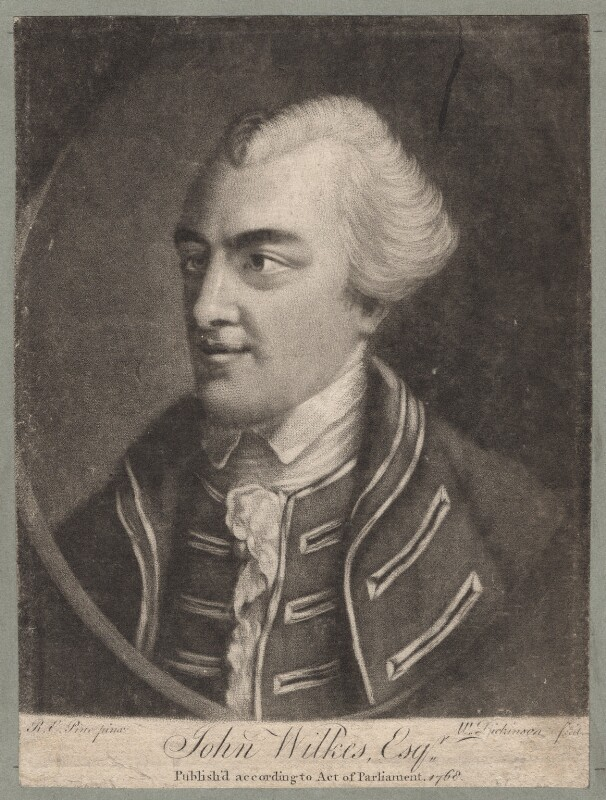 John Wilkes, by William Dickinson, after  Robert Edge Pine, published 1768 - NPG D4799 - © National Portrait Gallery, London
