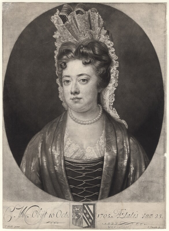 Catherine Wilkinson, by John Smith, after  Thomas Hill, 1706 - NPG D4805 - © National Portrait Gallery, London