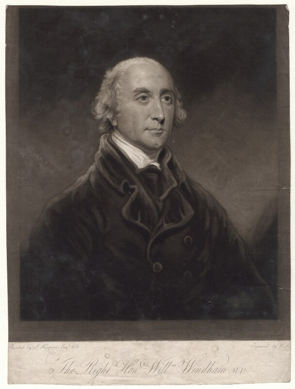 Hon. William Windham, by William Say, after  John Hoppner, published 1803 - NPG D4861 - © National Portrait Gallery, London